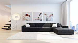 Wall Art For Living Room by Series Art Sergei Kharenko U2013 Inner City Monochrome Living Triple
