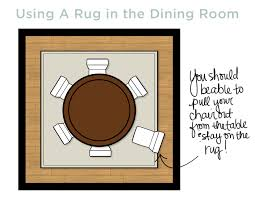 How To Size A Dining Room Table - area rug size for dining room onyoustore com