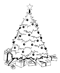 coloring page of christmas tree with presents christmas tree and presents coloring pages christmas coloring