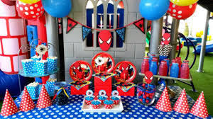 Spiderman Decoration Headline For Spiderman Party Supplies Ideas For A Spider Man