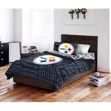 Pittsburgh Steelers Bathroom Set Nfl Pittsburgh Steelers Bed In A Bag Complete Bedding Set