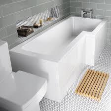 l shaped baths premier 1500mm l shaped shower bath with acrylic