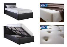 4ft small double side lift ottoman storage bed 3 colours