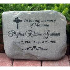 garden memorial stones a custom engraved garden memorial medium personalized km rr
