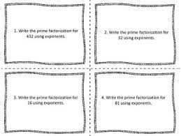 prime factorization task cards by hodges herald tpt