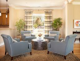 Traditional Chairs For Living Room Four Chairs Living Room Traditional With Coffee Table Plaid