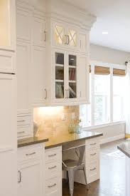 326 best white kitchen cabinets inspiration images on pinterest kitchen desk and to the left have a wall of cabinets yessss please