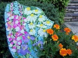 Painted Rocks For Garden by Hand Painted Flower U0026 Fairy Rocks Hand Painted Wildflower Garden