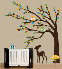 Vinyl Tree Wall Decals For Nursery by Nursery Wall Decals Color The Walls Of Your House
