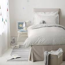best bed linen gingham bed linen cool grey the white company best bed