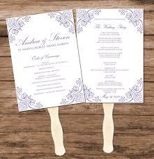 diy wedding fans templates lavender vintage wedding program fan template diy reception menu