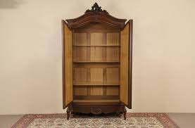 sold country french carved 1900 antique armoire or wardrobe