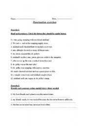 english teaching worksheets punctuation