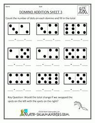 domino math addition worksheets kindergarten math worksheets