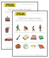 things that go together worksheets all kids network