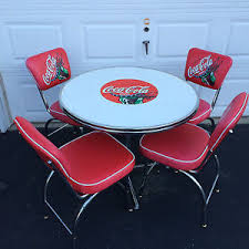 Vintage Coca Cola Table And Chairs All Luminum Products Ebay