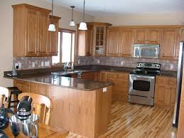 kitchen counter backsplash cabinets light countertops high end bar stools for isl