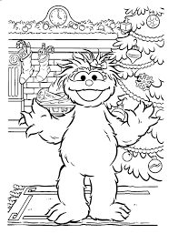 sesame street activity coloring pages for kids free printable