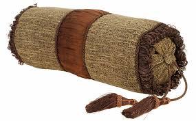 decorative pillow 7inch x 15inch bolster rib brush chocolate