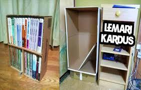 cara membuat lemari buku dari kardus bekas 5 ide kerajinan tangan dari kardus bekas dan cara membuatnya
