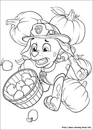 marshall thanksgiving paw patrol coloring page zac
