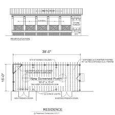 screen porch building plans bethesda home plans