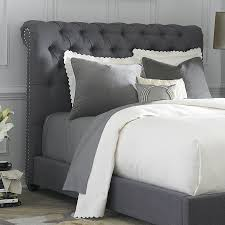 King Fabric Headboard Shop Liberty Furniture Chesterfield Gray King Linen
