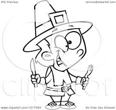 pilgrim boy book clipart of an outlined hungry thanksgiving pilgrim boy