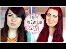 dying red hair light brown how to dye dark brown hair bright red without bleaching youtube