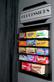 diy media room candy display an easy diy project using pegboard