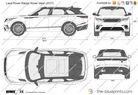 the blueprints com vector drawing land rover range rover velar