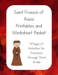 saint francis of assisi printables packet