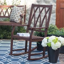 Outdoor Rocking Chairs For Heavy Belham Living Cottonwood Indoor Outdoor Wood Rocking Chair Gray