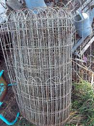 garden yard wire fencing hairpin 1920s cottage style wire fence