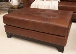 large leather tufted ottoman coffe table leather tufted ottoman coffee table coffe image