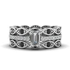Black Diamond Wedding Ring Sets by Explore Our Black Diamond Trio Wedding Ring Sets Fascinating
