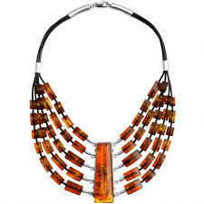 statement necklace sterling silver images Polish designer aleksander gliwinski cognac baltic amber sterling jpg