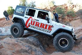 off road car stopping in the dirt with wilwood brakes