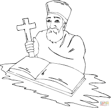 priest with cross coloring page free printable coloring pages
