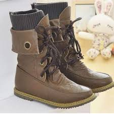 lace up moto boots fashion vintage lace up women motorcycle snow boots