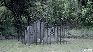 how to make a cheap cemetery fence for halloween youtube