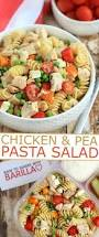 chicken and pea pasta salad frugal mom eh