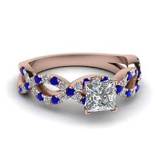 Sapphire Wedding Rings by Customize Blue Sapphire Side Stone Engagement Rings Fascinating