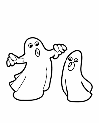 funny halloween ghost coloring pages halloween witch and ghost