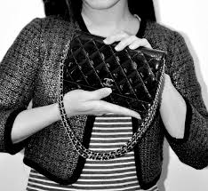 chanel wallet on chain woc in patent leather black with silver