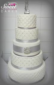 wedding cakes with bling bling grey wedding cake cake by sweet creations cakes cakesdecor