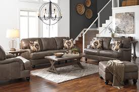 Rustic Leather Living Room Furniture Rustic Leather Hide A Way Bed And Sleeper Sofas