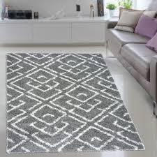 teppich für jugendzimmer tapiso shaggy hochflor teppich marokkanische muster trellis