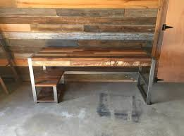 office desk distressed wood dining table reclaimed barn wood