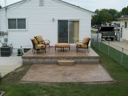 Small Concrete Patio Designs by Cool How Thick Should A Concrete Patio Be Home Design New Top In